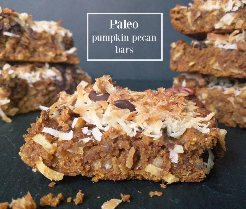 Paleo pumpkin pecan breakfast bars