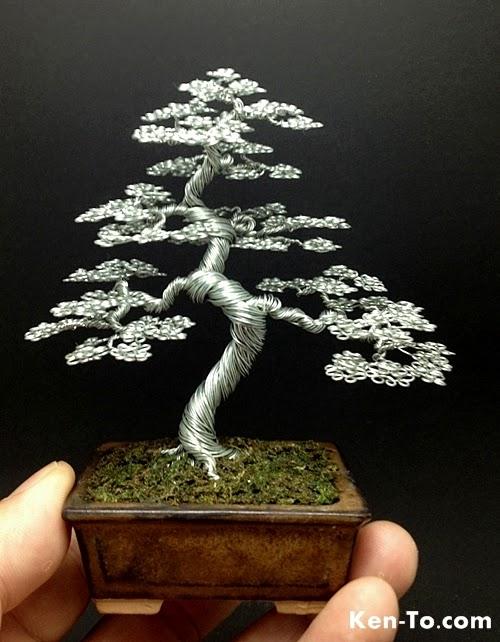 13-Ken-To-aka-KenToArt-Miniature-Wire-Bonsai-Tree-Sculptures-www-designstack-co