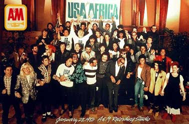 video de we are the world usa for africa: