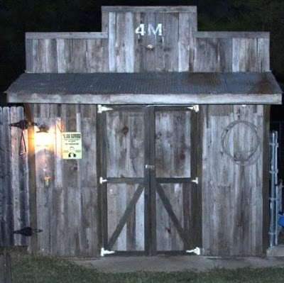 Making a Shed Look Like an Old West Building