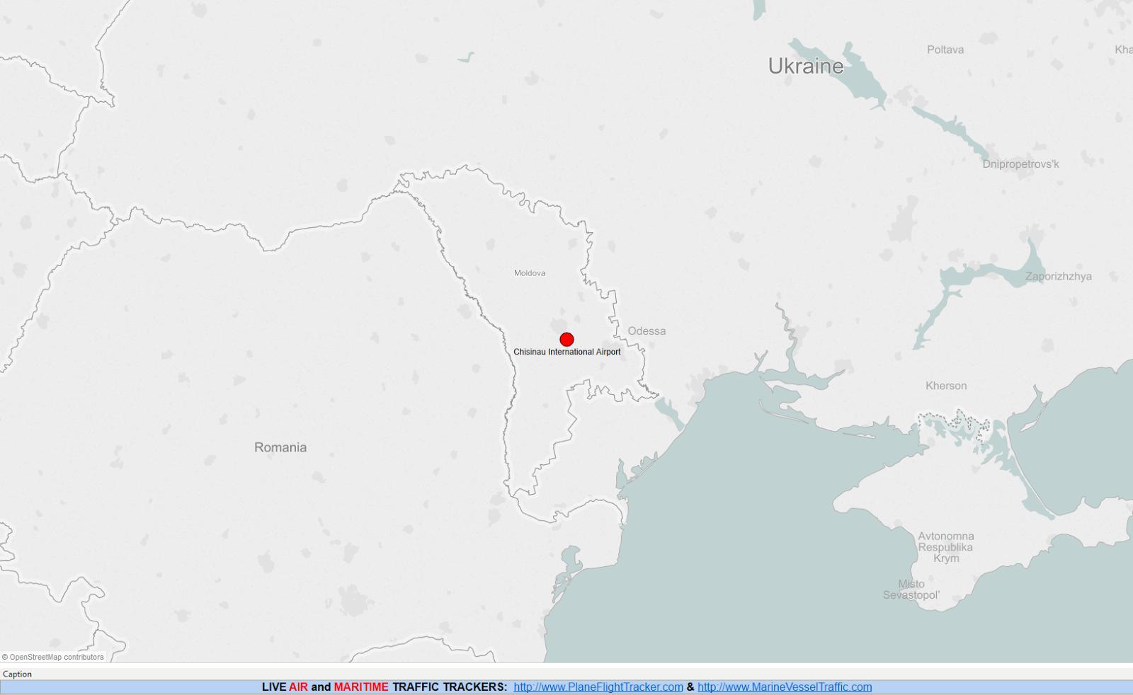 MOLDOVA AIRPORTS MAP
