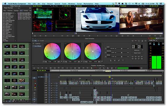 Avid Media Composer 8.2 interfaz