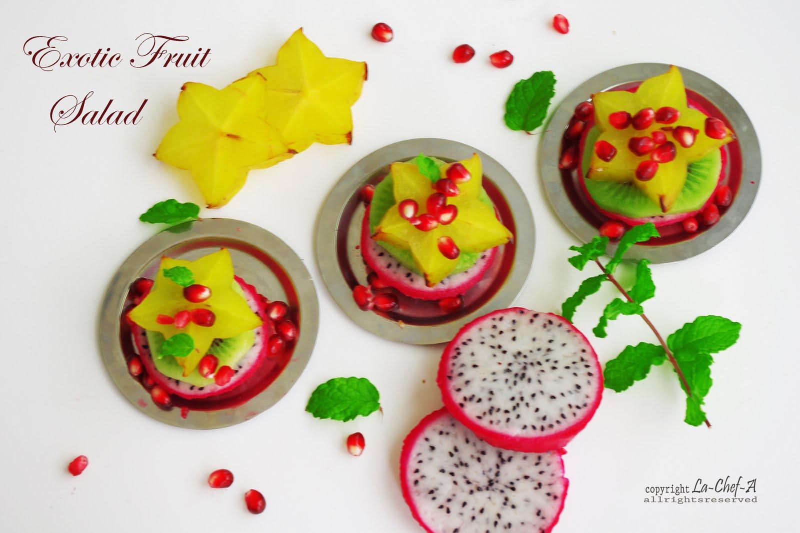 Salata de fructe exotice cu frisca