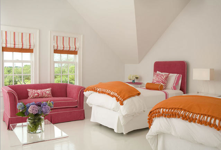 pink and orange for a girl 39 s bedroom driven by decor