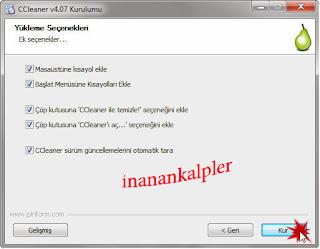 Ccleaner bilgisayar temizleme programıdır.