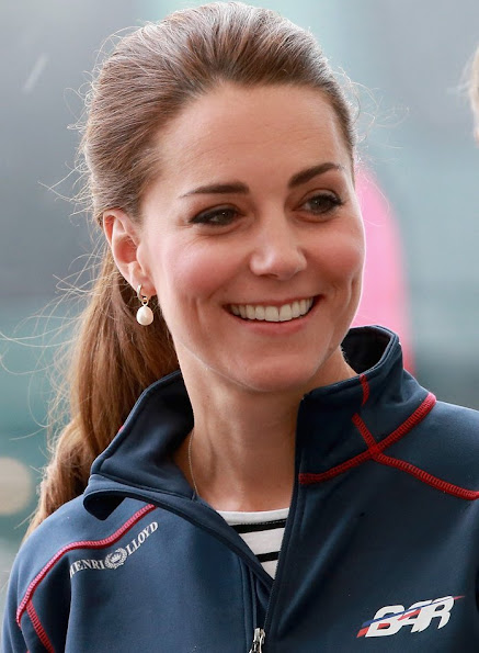 Kete Middleton Royal Patron of the 1851 trust attend the America's Cup World Series
