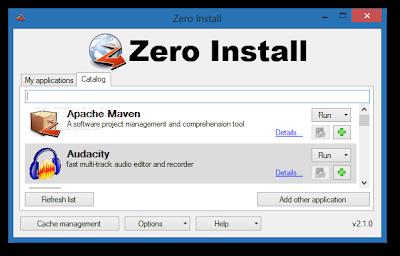 ZeroInstall, aplicaciones y programas