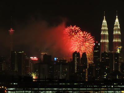 2013 fireworks at KLCC