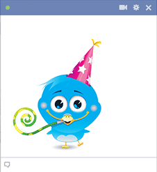 Birthday Blue Bird Icon