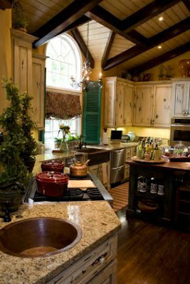 wooden rustic kitchens 2015, How to make the kitchen more cozy with their own hands