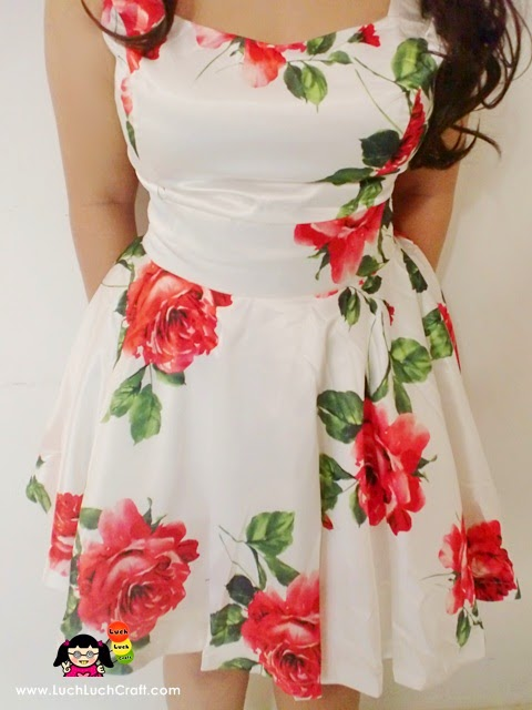 Rose dress Sheinside