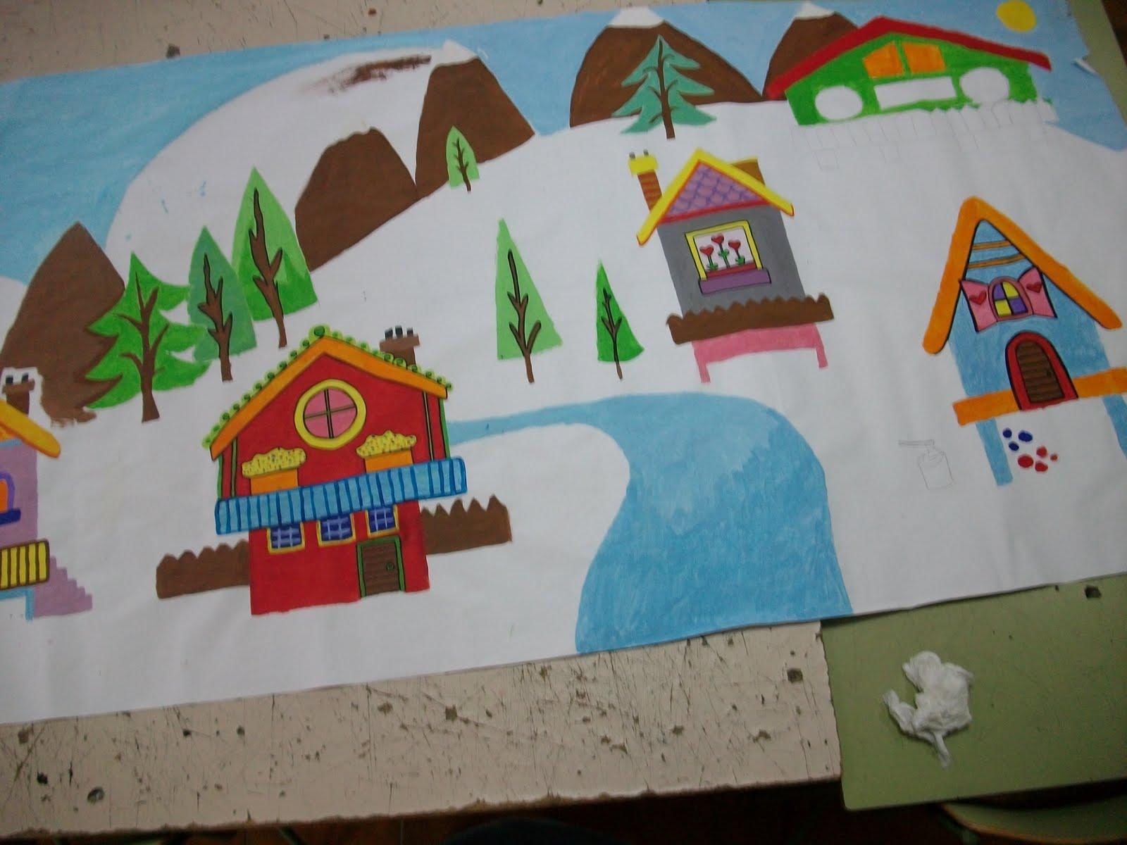 Epv 3 y 4 eso comunidad infantil villaverde pasito a for Mural navideno