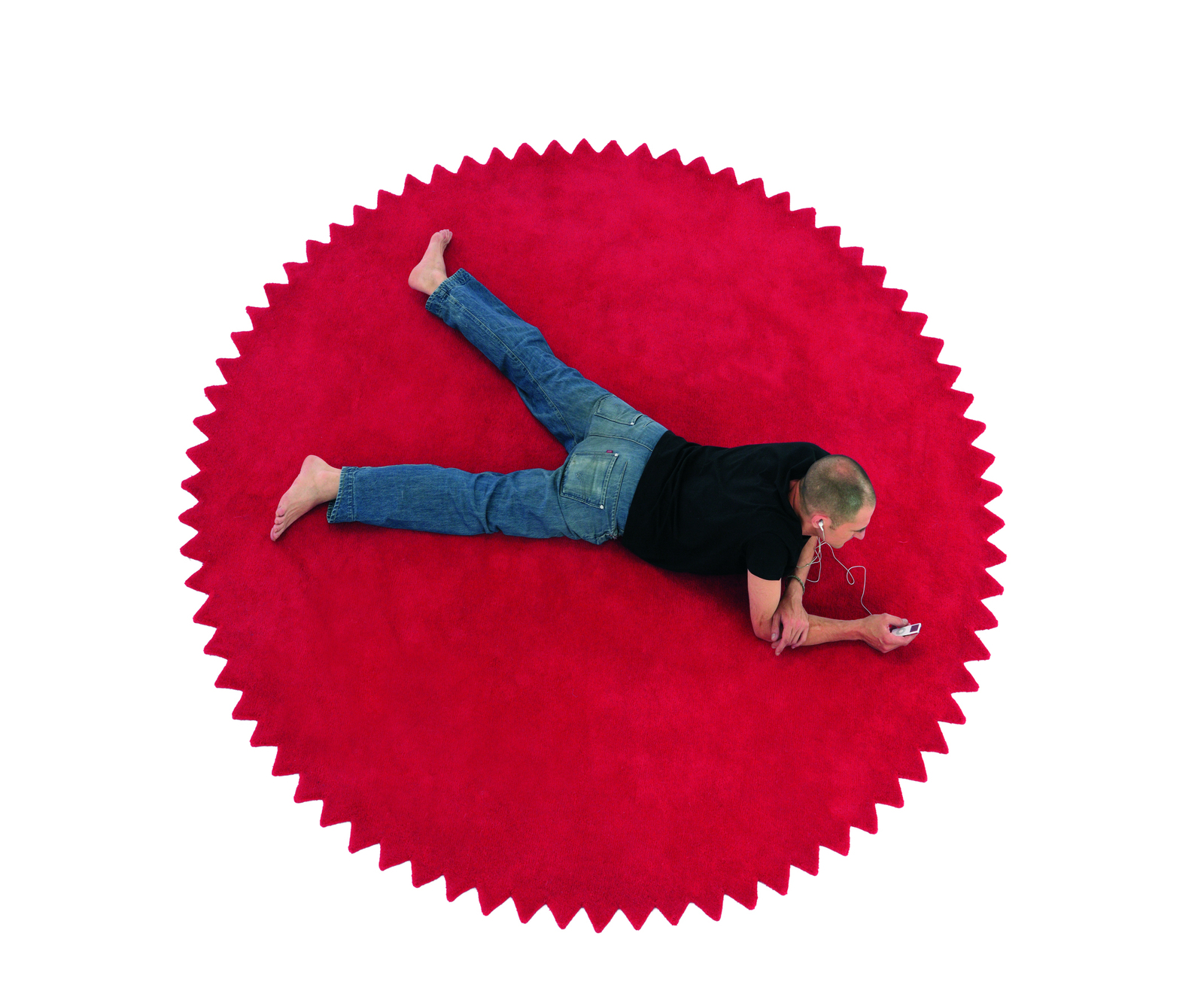 Round Red Rug Roselawnlutheran