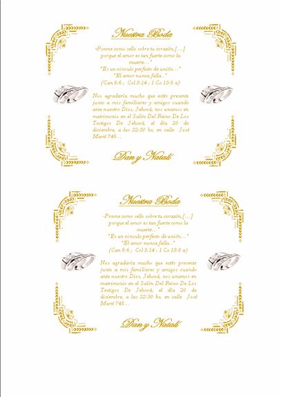 formatos para boda: