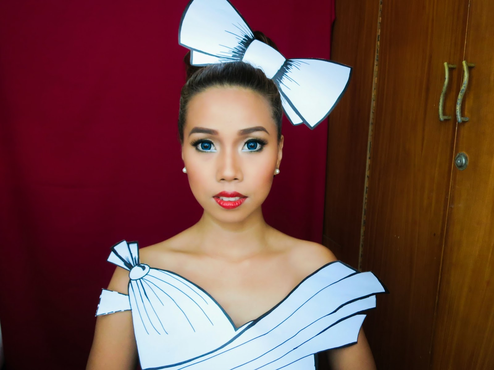 Mineeh11 halloween look 2 paper doll next thing youll know people will be amazed by your simple yet genius halloween look heres the makeup tutorial baditri Image collections