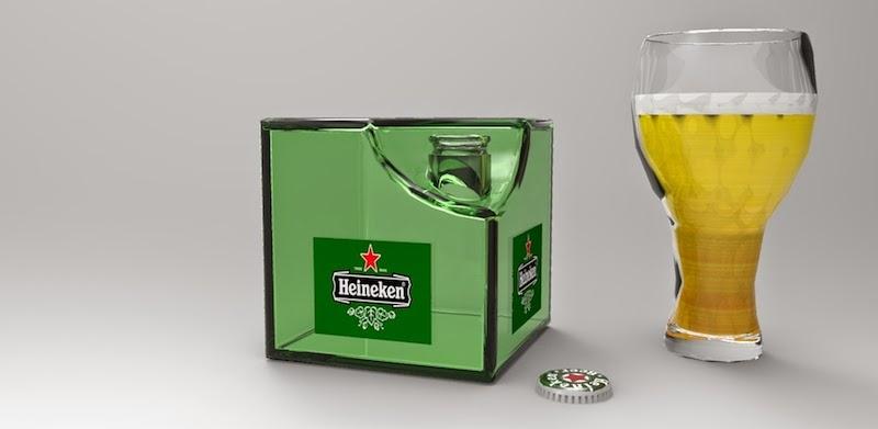 Heineken Cube, Bouteilles Carrés Respectueux de l'Environnement