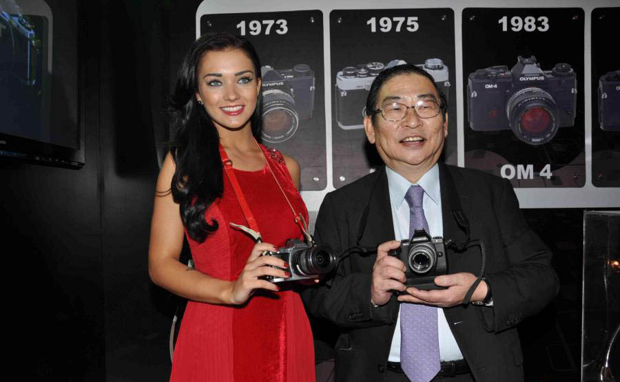 amy jackson launch olympus camera hot photoshoot