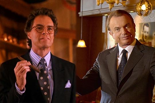 Benjamin Horne (Richard Beymer) en Twin Peaks y Merritt Grieves (Sam Neill) en Happy Town - Cine de Escritor