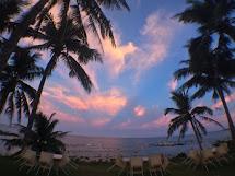 民宿傍晚的海景