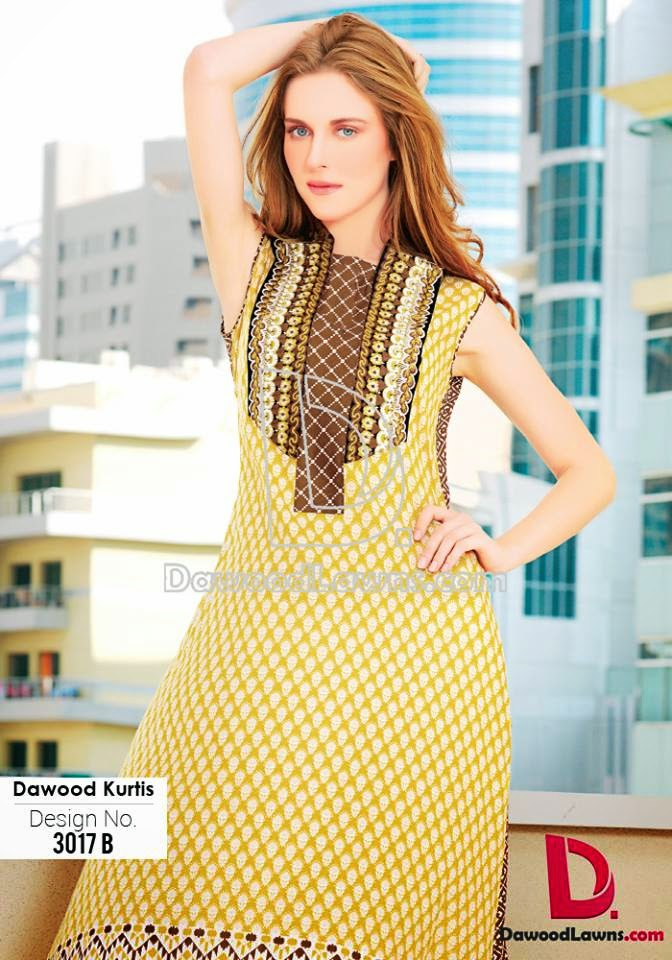 Latest lawn kurti collection 2015