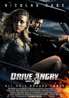 Patrick Lussier, Drive Angry, Hell Driver, Amber Heard, Nicolas Cage, William Fichtner, poster, bon goût, critique