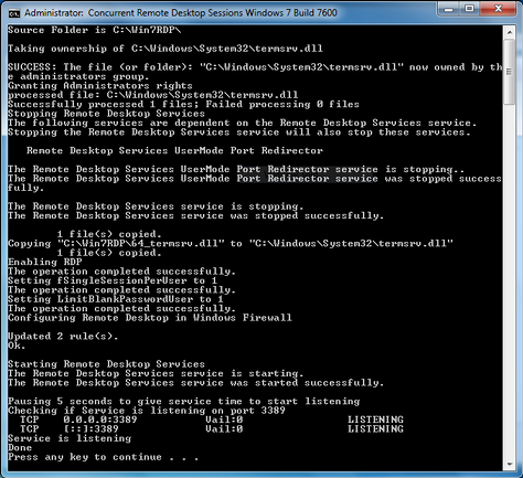 Proses file install.cmd