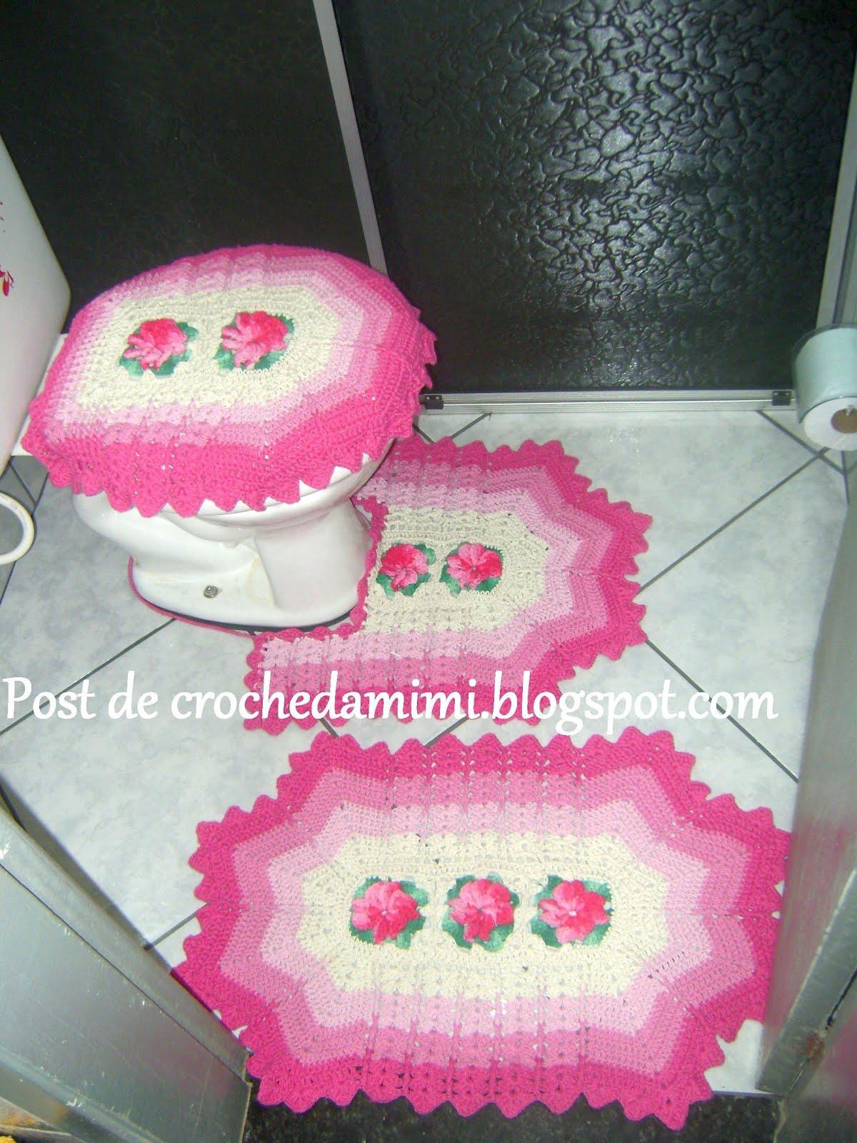 Amigas_do_croche® ~*~: Jogos de croche para banheiro De: Croche da ...