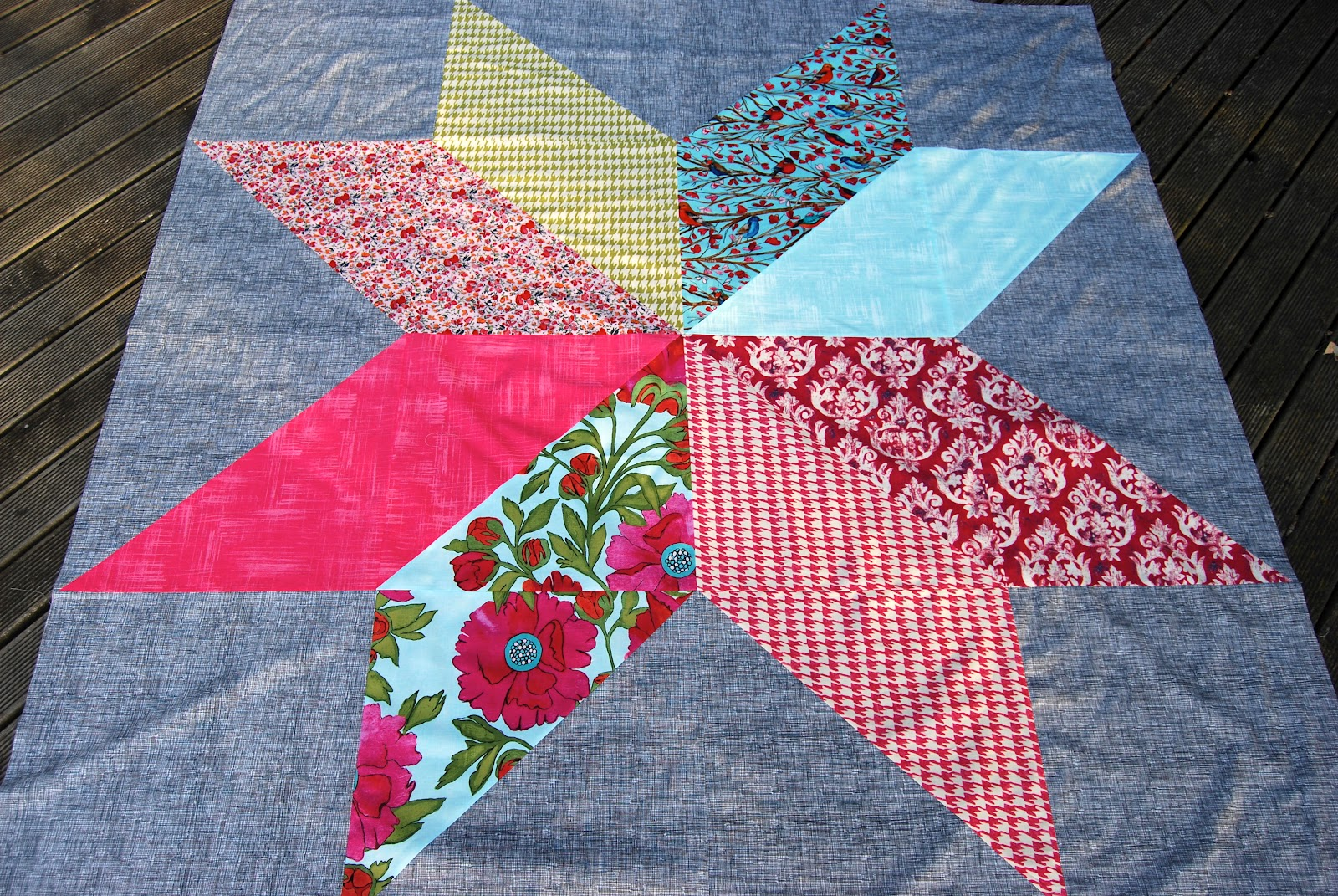 On the Windy Side: Giant star quilt top : giant star quilt - Adamdwight.com