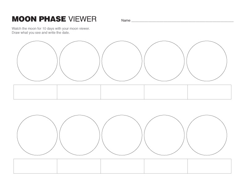 Moon Phases For Kids Printable View the moon