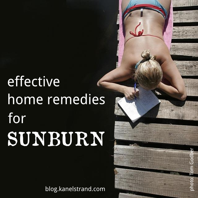 6 effective home remedies for sunburn via @kanelstrand