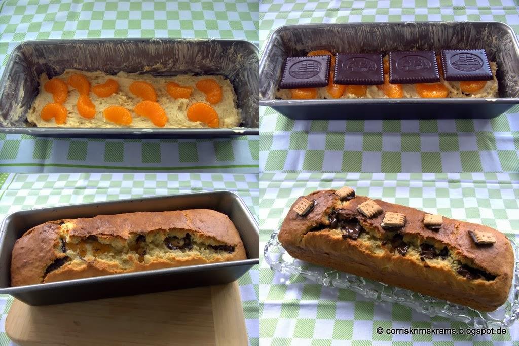 Butterkekse, Backen, Kuchen, Mandarinen, Kastenform, Kindergeburtstag