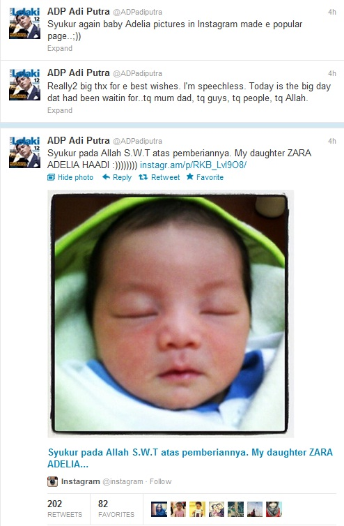 Gambar Anak Adi Putra, Zara Adelia Haadi