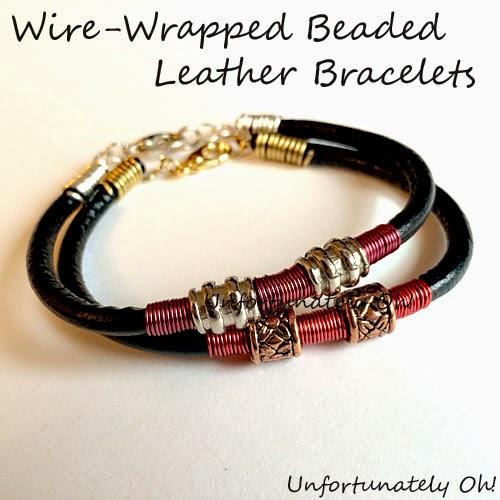 leather cord bracelet DIY