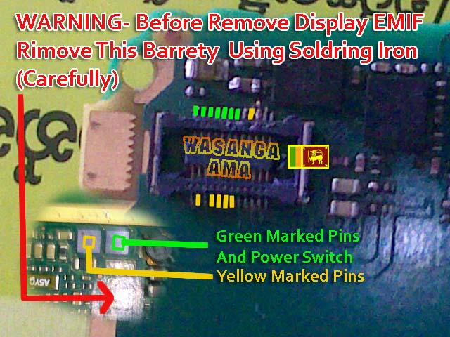 Removing Display EMIF in Nokia