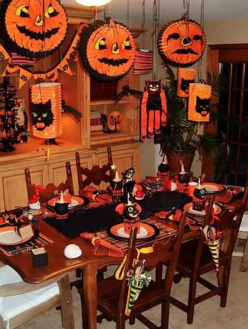 Decoraci n mesas para halloween kitchen design luxury homes for Decoracion mesa halloween