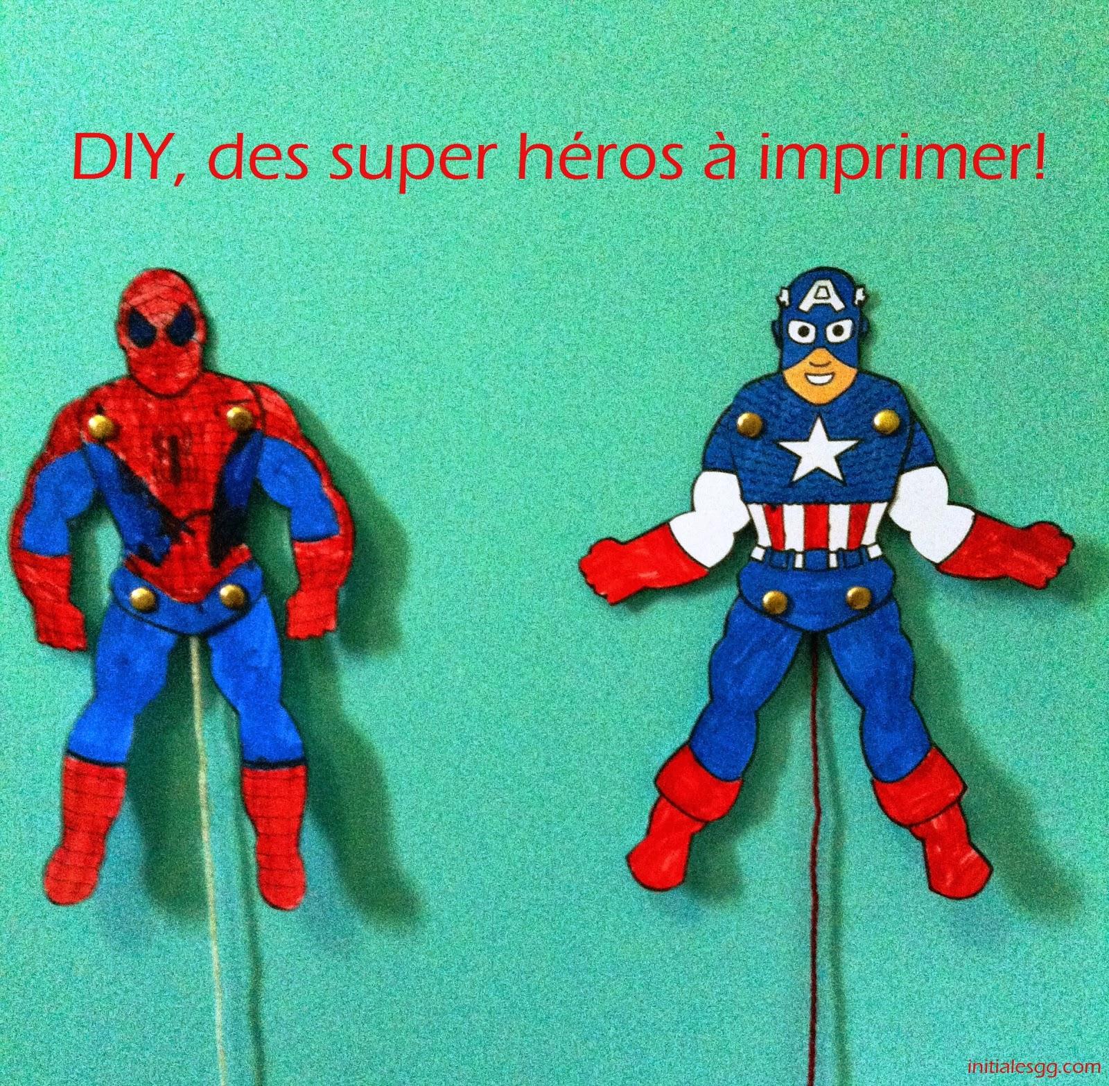 Diy des super h ros imprimer et colorier initiales gg - Jeu spiderman gratuit facile ...