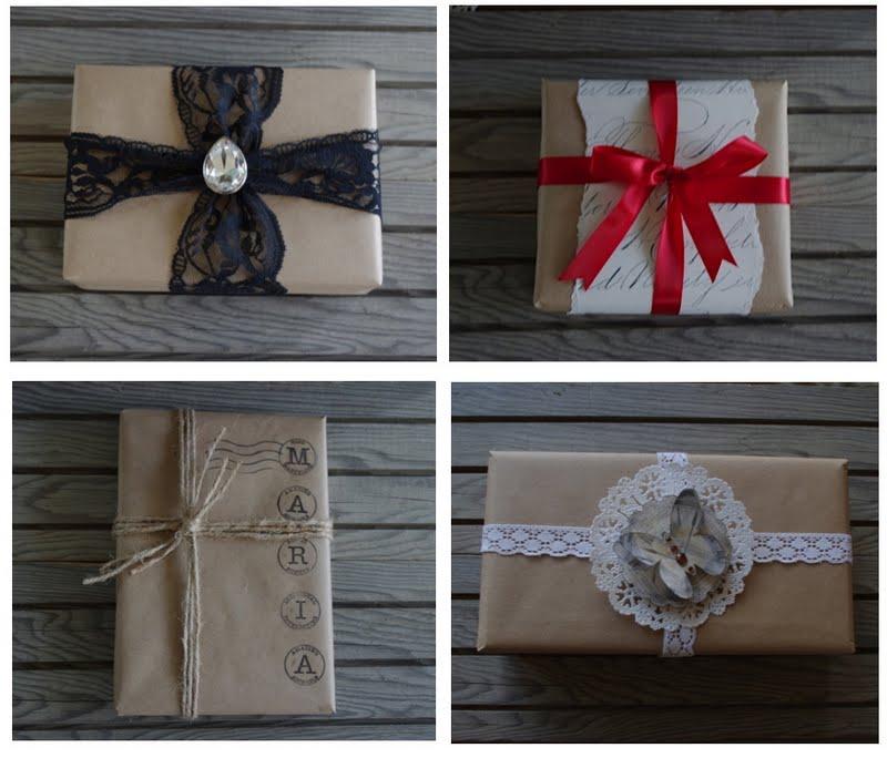 Как красиво упаковать подарок в бумагу крафт в8