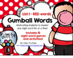 http://www.teacherspayteachers.com/Product/Gumball-Words-List-1Red-Common-Core-Sight-Word-Activities-903997