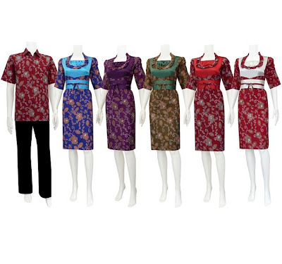 Model Baju Dress Sarimbit Batik Modern Terbaru 2013