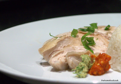 thehomefoodcook - hainanese chicken rice - served on plate