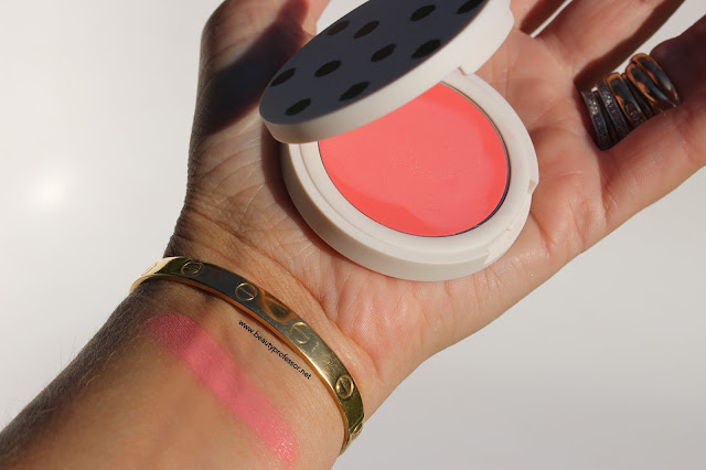 topshop cream blush head over heels swatch