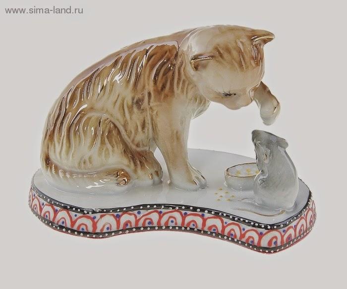 Фигурка кошки-мышки