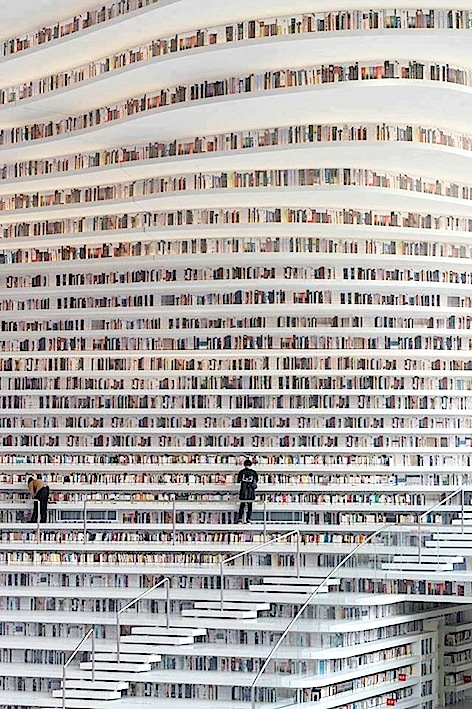 The largest library in the world. Just opened In China and has 1.2 Million books.