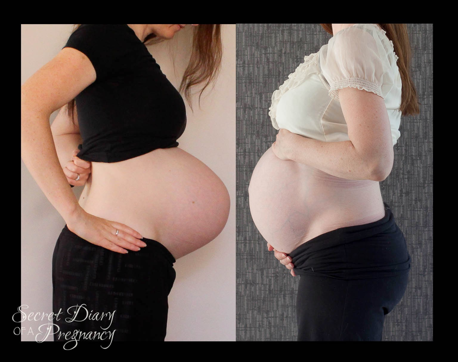 pregnant belly comparison pregnancy 1 2 9 months