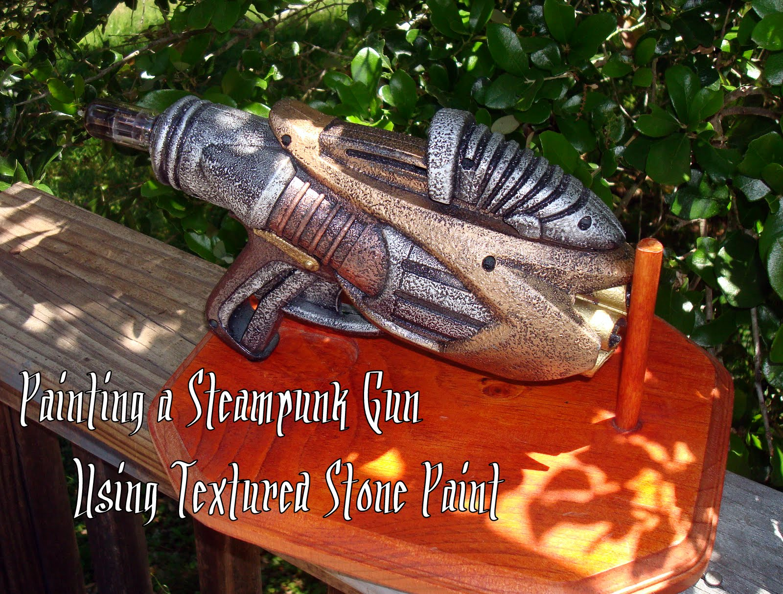 Steam Ingenious Tutorial Painting a Steampunk Gun with Textured Paint