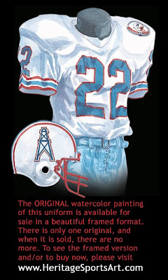 Houston Oilers 1984 uniform - Tennessee Titans 1984 uniform