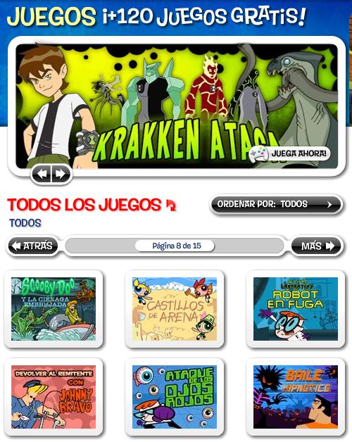 juegos en cartoon network:
