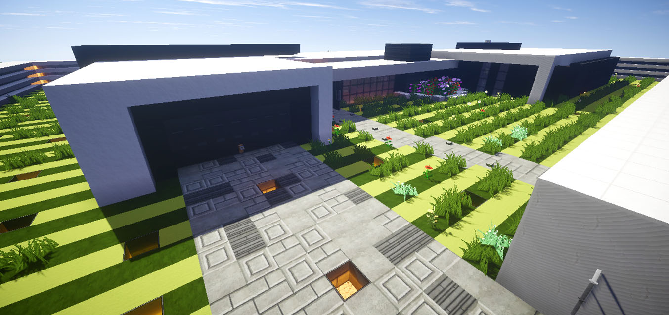 Casa moderna skybuild constru es de minecraft for Casa moderna minecraft pe 0 10 5