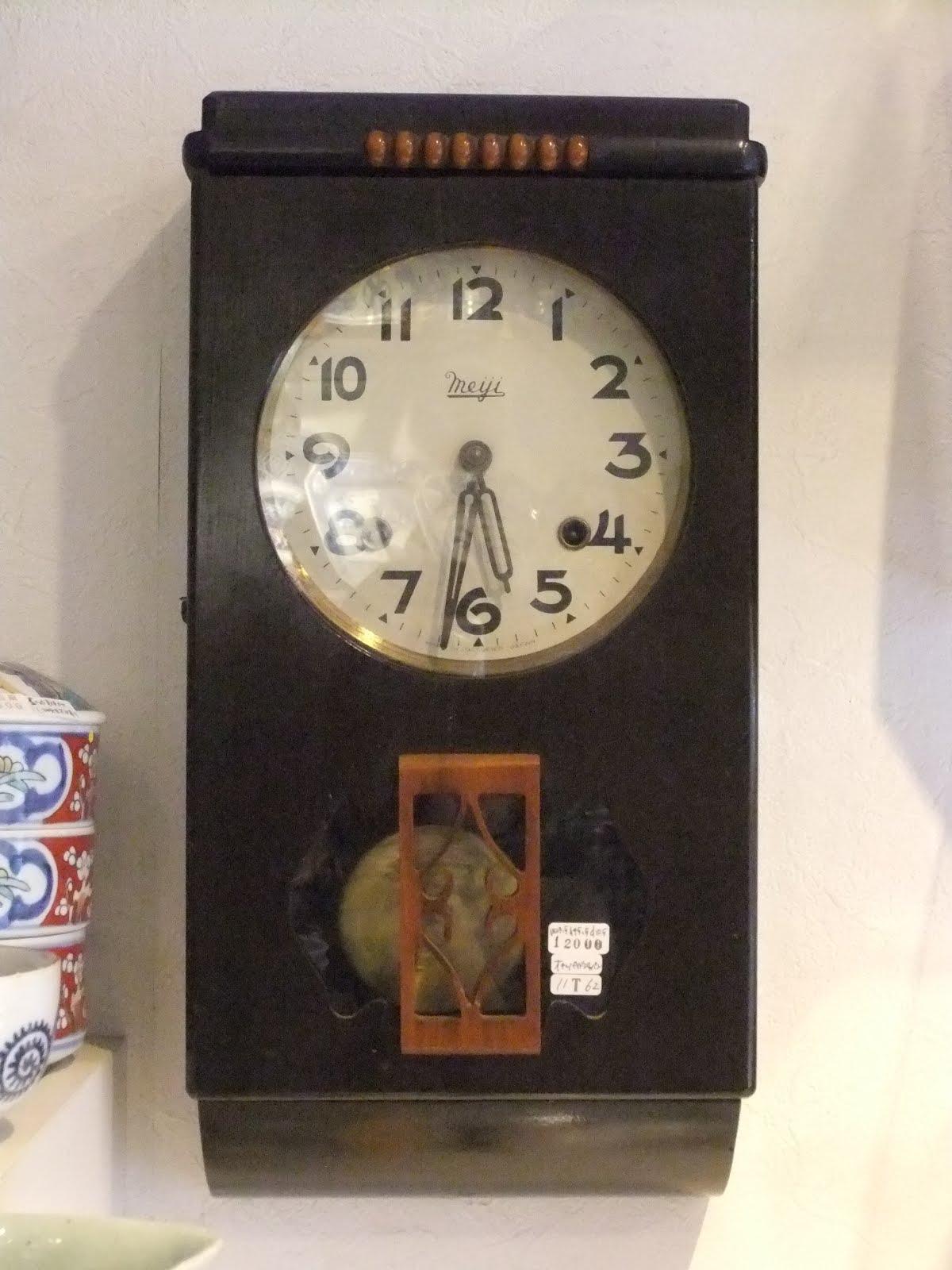 オキュパイドジャパンmeiji製長角掛け時計