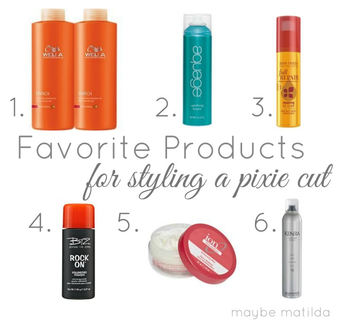 Best Styling Products For Fine Hair Maybe Matilda Favorite Hair Products For A Pixie Cut